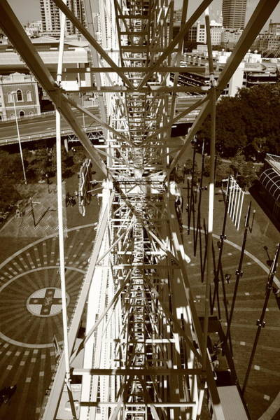 Art Print featuring the photograph Darling Harbour Big Wheel.  by Debbie Cundy