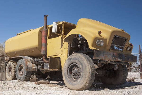 Heavy Duty Truck Wall Art - Photograph - Big Wheels Not Rollin Water Truck by Scott Campbell