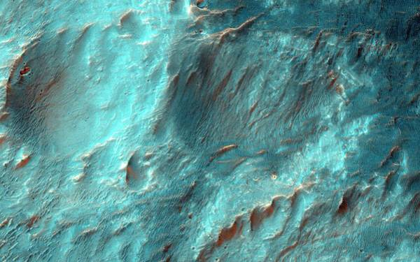 Eroded Photograph - Bigbee Crater by Nasa/jpl-caltech/university Of Arizona
