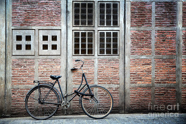 Wall Art - Photograph - Bike And Building by Jane Rix