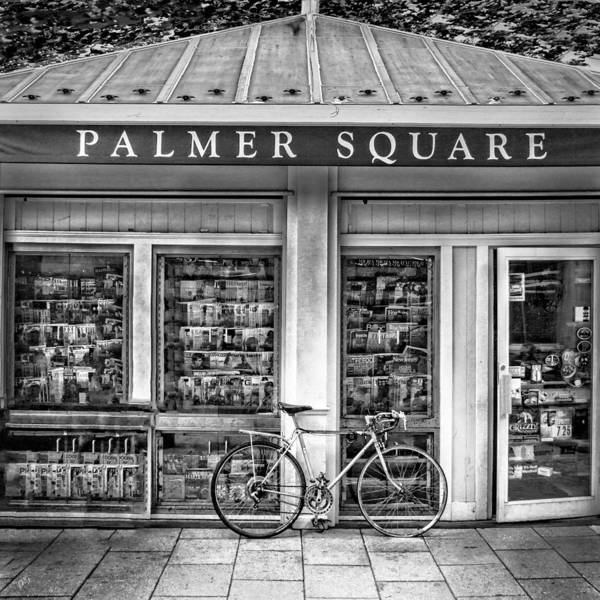 Photograph - Bike At Palmer Square Book Store In Princeton by Ben and Raisa Gertsberg