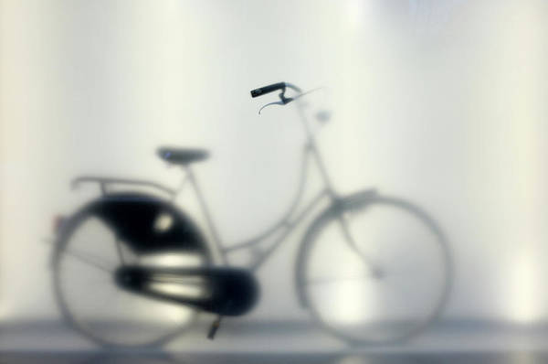 Frosted Glass Photograph - Bike Behind Frosted Glass by Mattjeacock