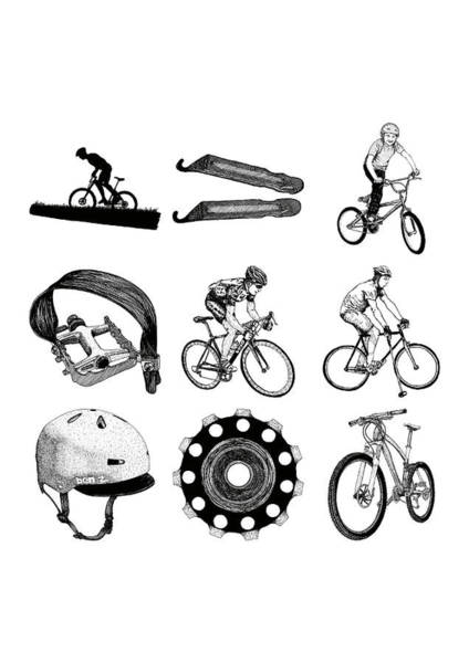 Wall Art - Drawing - Bike Collection by Karl Addison