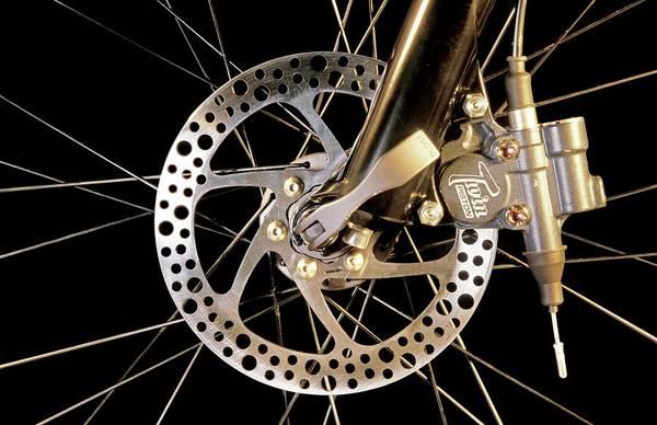 Brake Wall Art - Photograph - Bike Disc Brake by Patrick Landmann