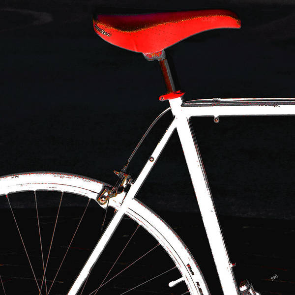 Orb Photograph - Bike In Black White And Red No 1 by Ben and Raisa Gertsberg