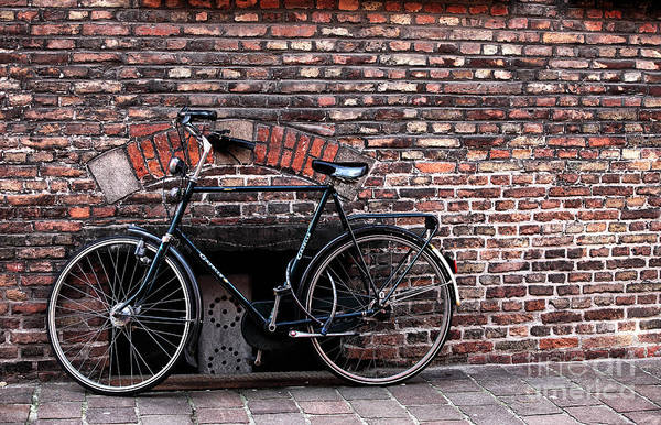 Wall Art - Photograph - Bike In Bruges by John Rizzuto