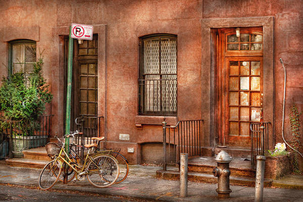 Photograph - Bike - Ny - Urban - Two Complete Bikes by Mike Savad