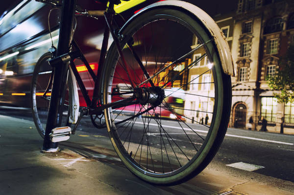 Cycles Photograph - Bike On Whitehall  by Joseph S Giacalone