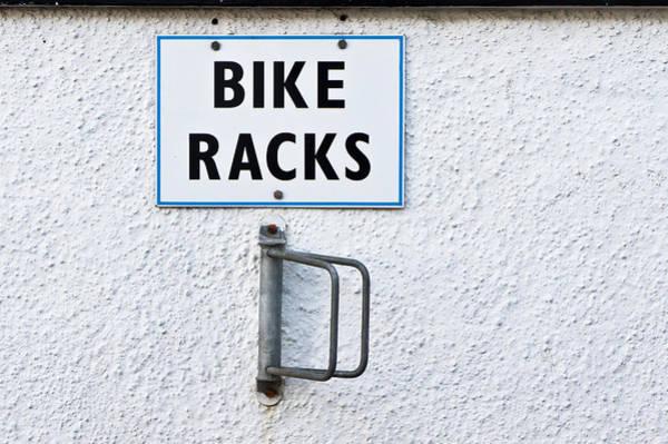 Bicycle Rack Photograph - Bike Racks by Tom Gowanlock
