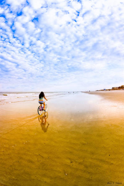 Photograph - Bike Ride On The Beach At Tybee Island by Mark Tisdale