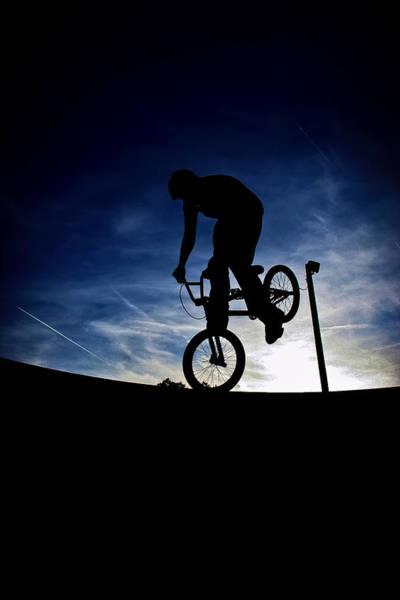 Loftus Photograph - Bike Silhouette by Joel Loftus
