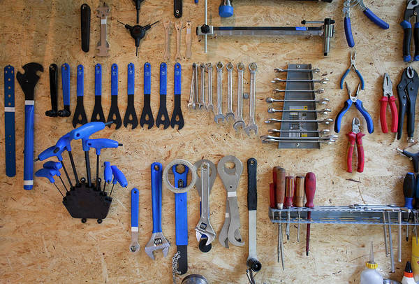Workshop Photograph - Bike Tools by Kathrin Ziegler