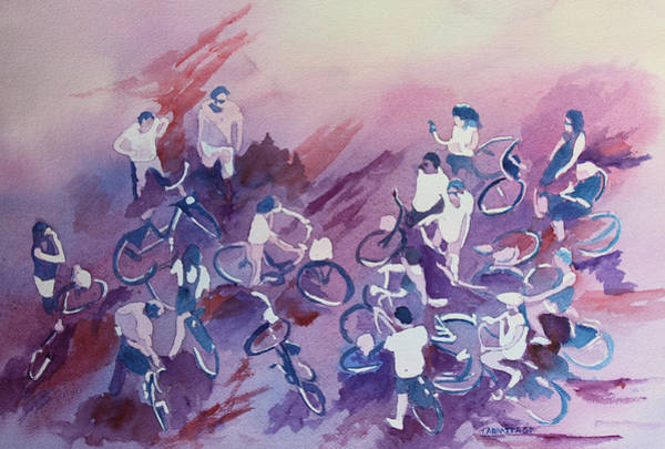 Bicycle Painting - Bike Tour by Jenny Armitage