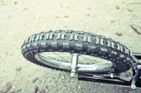 Pedal Wall Art - Photograph - Bike Tyre by Tom Gowanlock