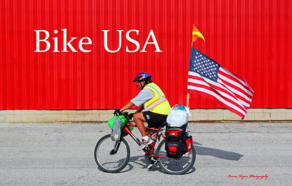 Photograph - Bike Usa by Lorna R Mills DBA  Lorna Rogers Photography