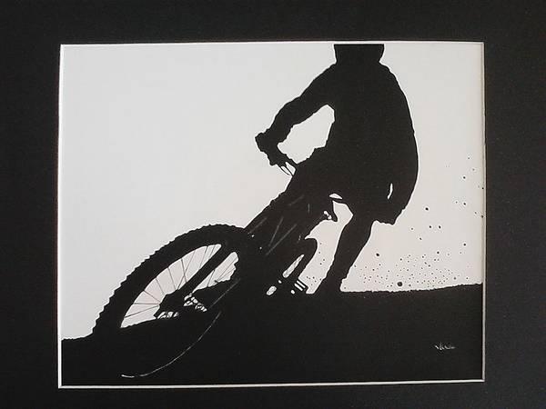 Wall Art - Drawing - Biker by Jackie Wilson