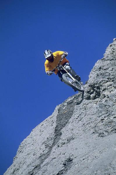 Wall Art - Photograph - Biker Riding In Salina, Utah by Scott Markewitz