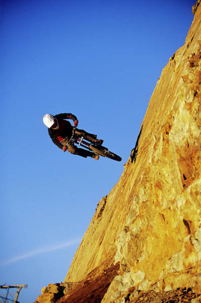 Wall Art - Photograph - Biker Riding In Whistler, Bc by Scott Markewitz