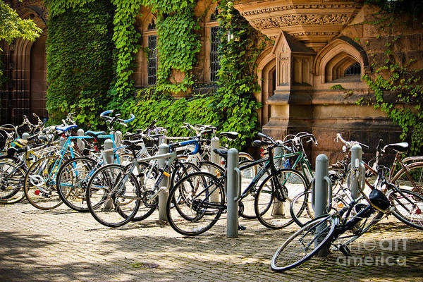 Wall Art - Photograph - Bikes At East Pyne - Princeton University by Colleen Kammerer