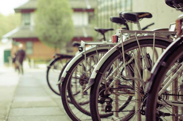 Bicycle Rack Photograph - Bikes by Jenna Woodward Photography