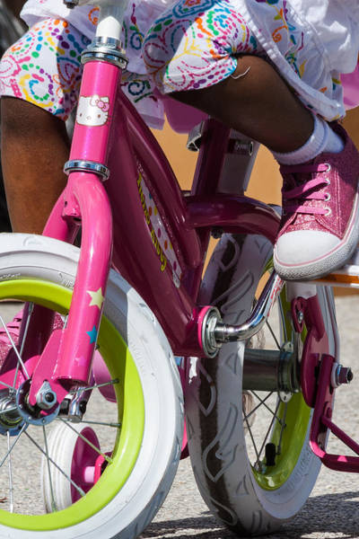 Photograph - Biking In Pink by Ed Gleichman