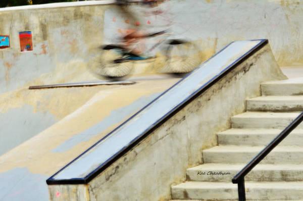 Bmx Photograph - Biking The Skateboard Park by Kae Cheatham