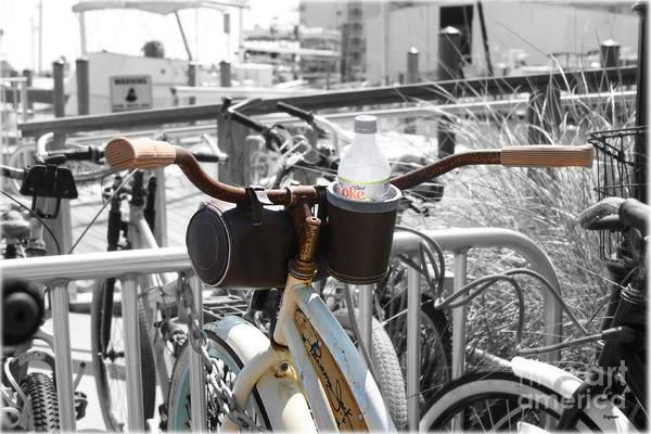 Biking With Panama Jack  Art Print by Steven Digman