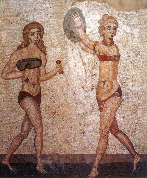 Photograph - Bikini Girls, 4th Century by Science Source