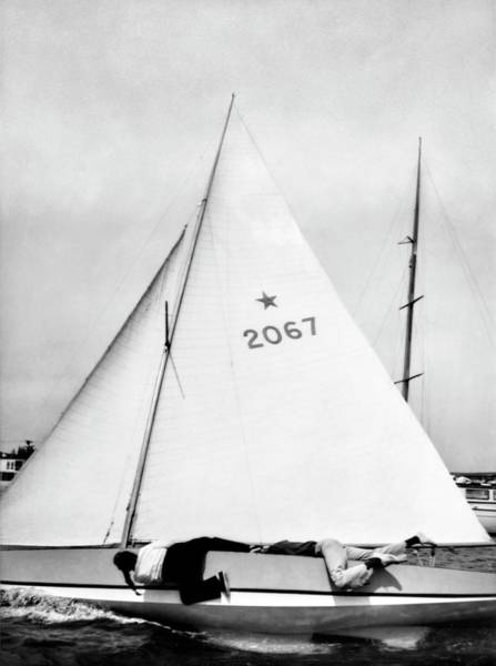 Sailing Photograph - Bill And Sue Fricker Sailing by George Platt Lynes