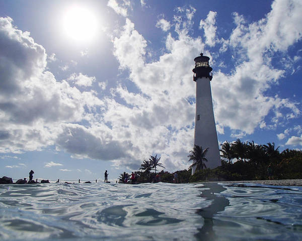 Key Biscayne Photograph - Bill Baggs Lighthouse On Key Biscayne by Toby McGuire