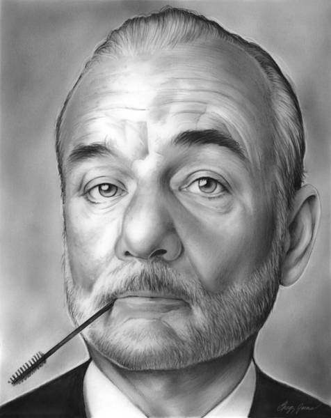 Actor Drawing - Bill Murray by Greg Joens