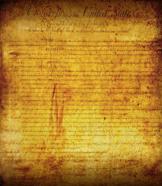 Wall Art - Digital Art - Bill Of Rights by Daniel Hagerman
