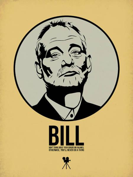 Movie Stars Wall Art - Digital Art - Bill Poster 1 by Naxart Studio