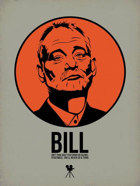 Movie Stars Wall Art - Digital Art - Bill Poster 3 by Naxart Studio