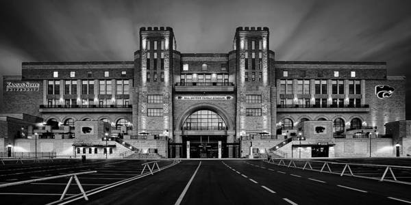 Wall Art - Photograph - Bill Snyder Family Stadium - Bw by Thomas Zimmerman