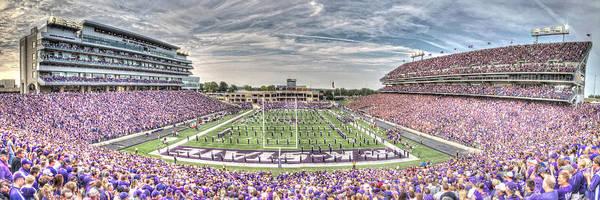 Kansas State University Photograph - Bill Snyder Family Stadium Panorama by Corey Cassaw