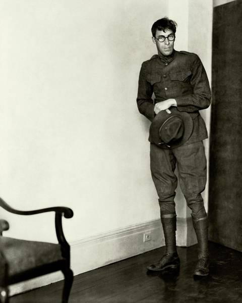 Sports Uniform Photograph - Bill Tilden Wearing A Military Uniform by Edward Steichen