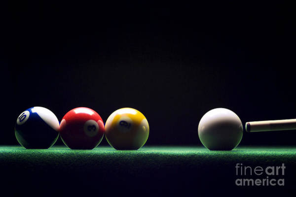 Pools Photograph - Billiard by Tony Cordoza