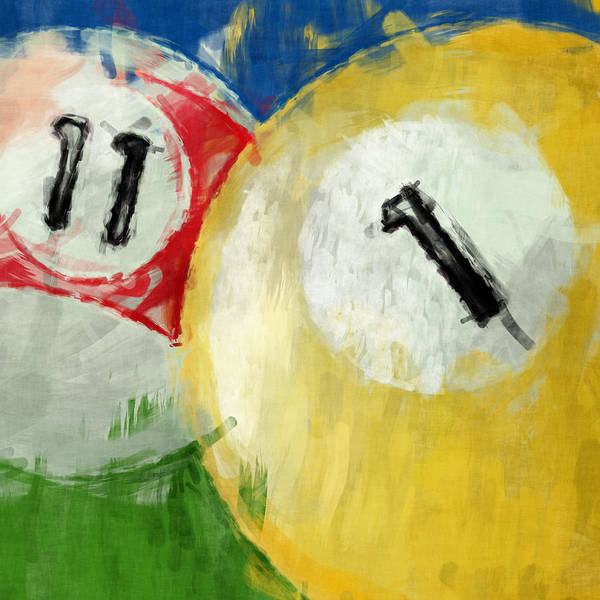 Pool Digital Art - Billiards 11 1 by David G Paul