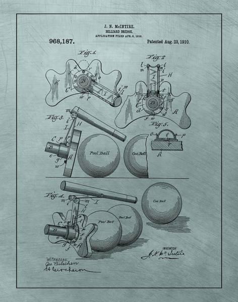 Shooting Mixed Media - Billiards Bridge Patent by Dan Sproul