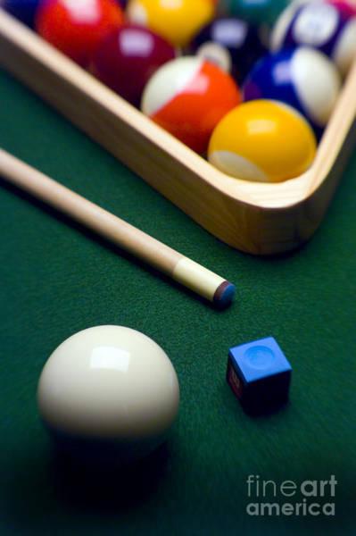 Rack Photograph - Billiards by Tony Cordoza