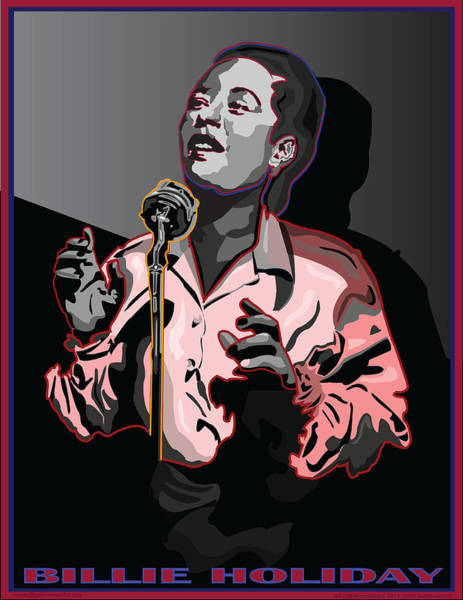 Wall Art - Digital Art - Billie Holiday Jazz Singer by Larry Butterworth