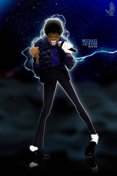 Digital Art - Billie Jean by Nelson Dedos Garcia
