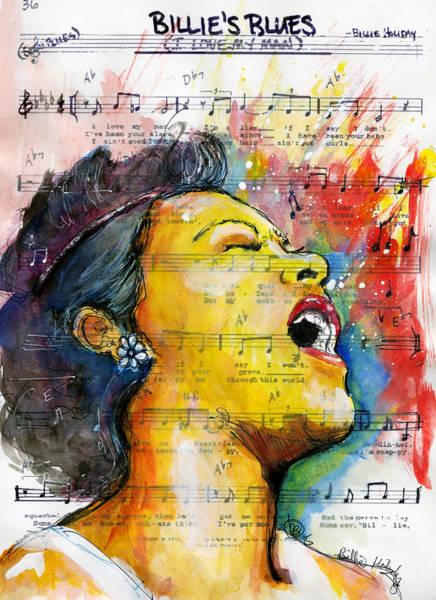 Urban Legend Digital Art - Billie's Blues by Howard Barry