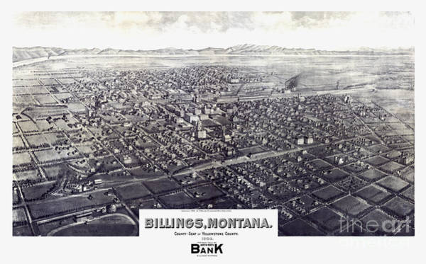 Montana Drawing - Billings - Montana - 1904 by Pablo Romero