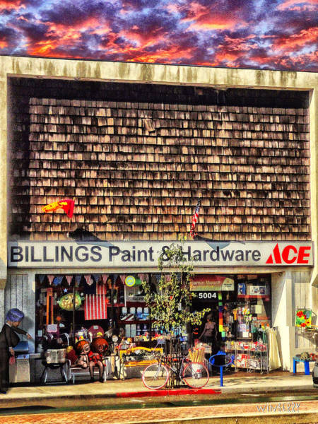 Digital Art - Billings Hardware by Bob Winberry