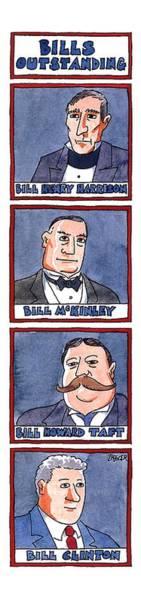 1993 Drawing - Bills Outstanding by Jack Ziegler