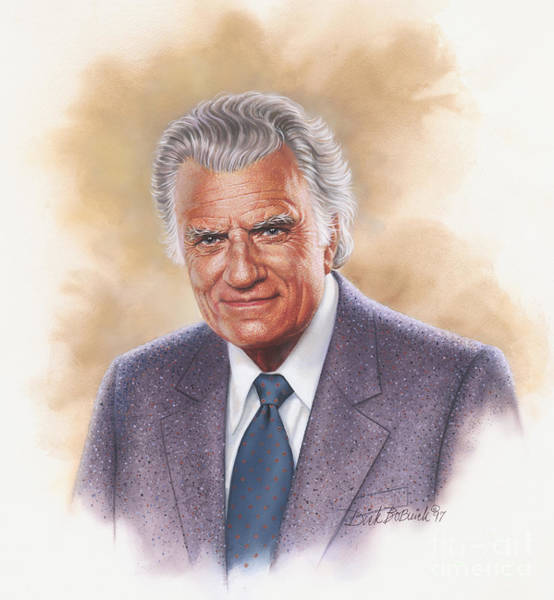 Wall Art - Painting - Billy Graham Evangelist by Dick Bobnick