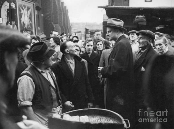 Wall Art - Photograph - Billy Graham Jr. On A Boston Street 1950 by The Harrington Collection