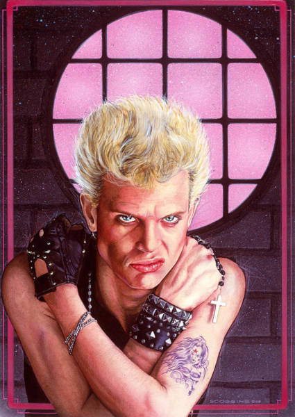 Wall Art - Painting - Billy Idol by Timothy Scoggins